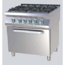 Плита газовая со статическим духовым шкафом RM Gastro SPST 780_21 GE