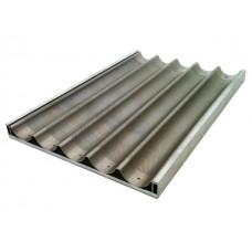 Противень алюминиевый для багетов 5 волн (перфорированный) 600х800мм Italbakery