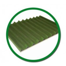 Противень алюминиевый для багетов 400х600мм тефлоновое покрытие ,без рамок Italbakery