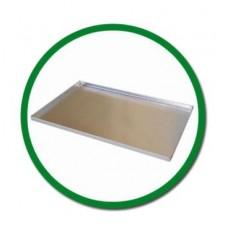 Противень алюминиевый неперфорированный 400х600 с бортами с 4х сторон. Силиконовое покрытие.